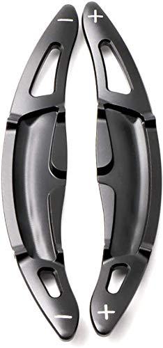 Aluminium-Legierung Auto-Lenkrad-DSG-Schaltpaddles Shifter Erweiterung for Pors-che Panamera Macan Cayenne 2017 2018 2019 718 911 2016 2019 918 Spyder 2015 Paddel-Shifter 2ST Schwarz ( Color : Black )