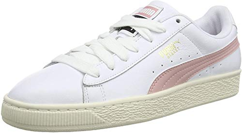 PUMA Basket Classic LFS, Zapatillas Unisex Adultos, White-Bridal Rose, 42 EU