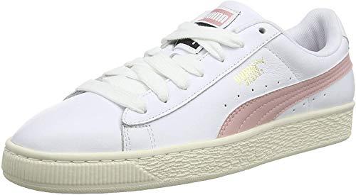 Puma Unisex-Erwachsene Basket Classic LFS Sneaker, White-Bridal Rose, 41 EU