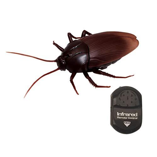 Heaviesk Alta simulación Modelo Animal Ojos Luminosos Control Remoto por Infrarrojos Cucaracha Parodia Tricky Juguete Divertido Scary Prank Toy