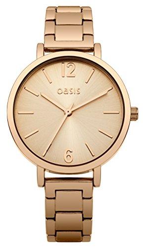 Oasis Damen-Armbanduhr Analog Quarz Edelstahl B1509