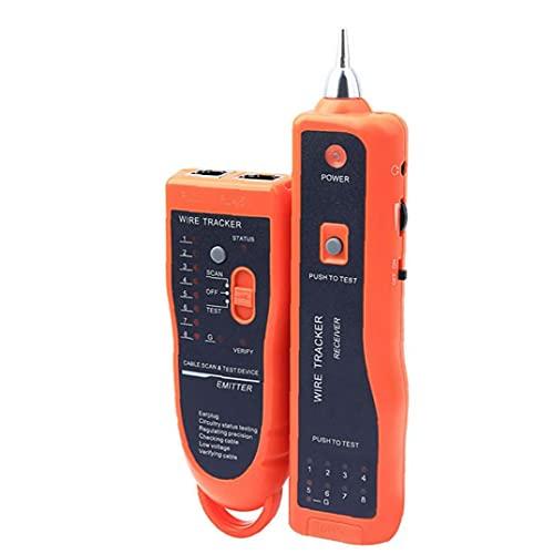 XQ-350 detector de cables de red RJ45 RJ11 probador del trazalíneas del toner del probador de múltiples funciones de red Comprobación de Orange