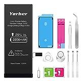 Akku für iphone 6s 2200mAh, Yarber hohe Kapazität mit mehr 29% Polymer-Lithium-Batterie, Ersatz Austausch mit Werkzeug Set, Screen Adhesive, Klebeband