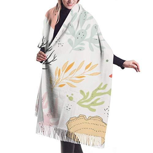 shenguang bufanda de invierno para mujer Cashmere Feel Sacred Japanese Koi Carp Bufandas Chal elegante Wraps Manta suave y cálida Bufandas para mujer