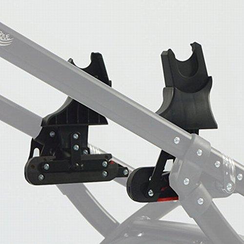 Knorr-Baby 35094 Adaptateur pour système coulissant – Classico, Voletto, noxxte, VW carbone pour siège auto Maxi Cosi et Cybex