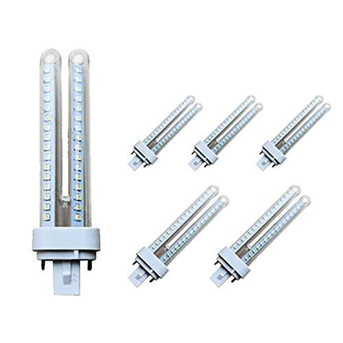 Pack 5 Bombillas LED PLC 2U 15W Maiz G24 Luz fría ,2-Pin con 360 Grados[Clase de eficiencia energética A+]