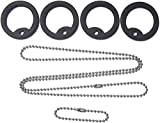 """Dog Tag Tune-up Repair Kit Silencers & Stainless Chains 27"""" & 4.5"""""""""""