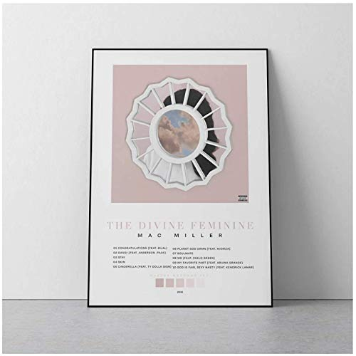 XiongDa The Divine Feminine Mac Miller Album Poster Music Wall Decor for Bedroom Canvas Living Room Decorations for Wall -20X28 Inch No Frame