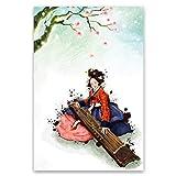 MJKLU Bajo el árbol de Hanmei Fuqin Belleza canción Cartel de impresión de Arte de Pared decoración ...
