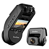 ZENFOX ドライブレコーダー 3カメラ WIFI搭載 車内外後同時記録 駐車監視 GPS 1440P+1080P+1080P ドラレコ 3カメラ同時録画 高画質 2カメラ 前後カメラ ドラレコ 2.0インチ 車内外同時撮影 SONY STARVISセンサー 前後車内 LED信号対応 赤外線搭載 18ヶ月保証期間 日本語説明書付き(フロント+車内+リア)