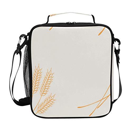 Fiambrera Compartimentos Cultivos agrícolas Arroz Trigo Fiambrera para hombre con correa ajustable para el hombro y múltiples bolsillos Fiambrera Pack It Congelable