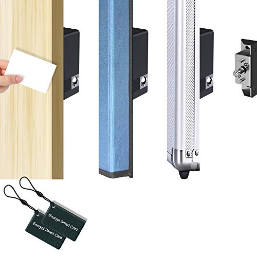 Drawer Lock with Encrypted RFID Cards, PINEWORLD K2 Filing Cabinet Lock, Electromagnetic Invisible Office/Home Cabinet Lock