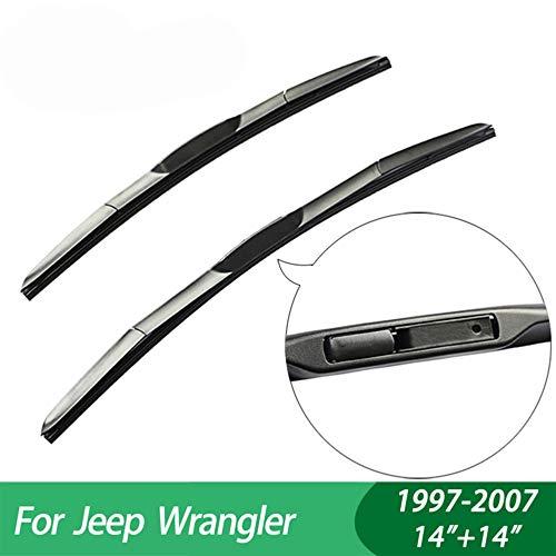 FLJKCT Wischerblätter Scheibenwischer Autozubehör, Fit für Jeep Wrangler (1997-2007)