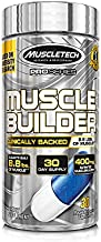 Muscle Builder   MuscleTech Muscle Builder   Muscle Building Supplements for Men & Women   Nitric Oxide Booster   Muscle Gainer Workout Supplement   400mg of Peak ATP for Enhanced Strength, 30 Pills