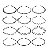 Anjing - Cerchietto per capelli da donna, in metallo, 12 pezzi