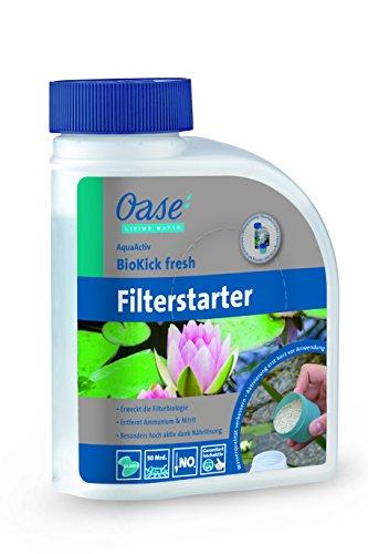 OASE 43145 AquaActiv BioKick Fresh 500 ml für 10.000 l - Filterbakterien Starterbakterien für Teich Fischteich Gartenteich Schwimmteich