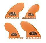 PACIFIC VIBRATIONS Futures Base Compressor Surfboard 4 Quad fins Set Fiberglass Resin Orange