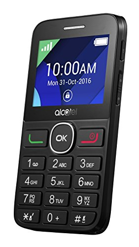 Alcatel Handy (6,1 cm (2,4 Zoll) Display, 2 MP Kamera) schwarz
