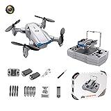 F Fityle KY906 Mini Drone Plegable 4K WiFi Retorno de una tecla 360 Rolling Auto Rotación Altitud Hold 3 Modos de Velocidad Sensor de Gravedad Drones de - Gris 1 Cámara 2B