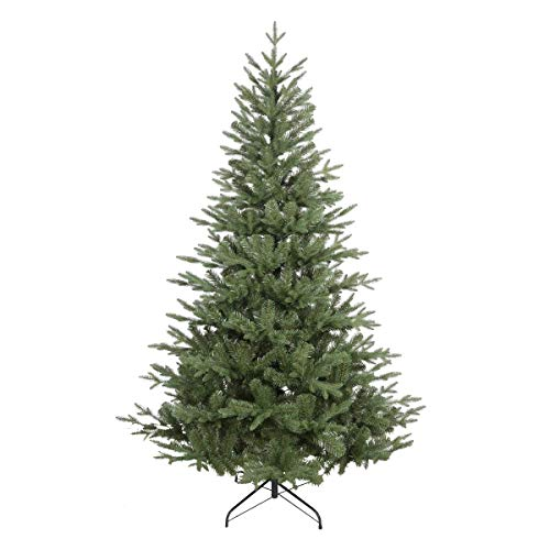 Dellonda Premium Artificial 6ft/180cm Hinged Christmas Tree with 1000+ PE/PVC Tips