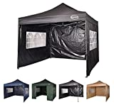 MAXIMUS® HEAVY DUTY GAZEBO 3m x 3m GAZEBO MARKET STALL POP UP TENT With 4 Sides (Beige)