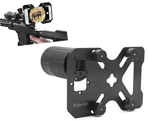 Bestguarder Hunting Shoot Scope Mount Adapter Camera Adapter Smart Mounting System for Gun Scope/Air Gun Scope/Spotting Scope/Telescope/Microscope/Binocular/Monocular Record Hunting via Cell Phone