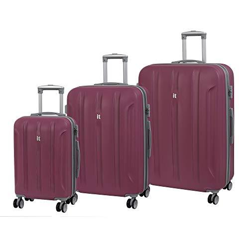 it luggage Proteus - Juego de 3 Maletas de 8 Ruedas con Cierre TSA (80 cm), Málaga (Rosa) - 16-2175-08GLO3N-S829