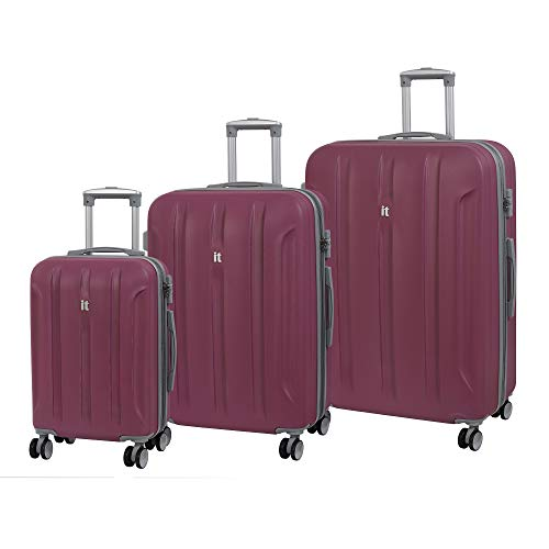 it luggage 3 Piece Set of Proteus 8 Wheel Hard Shell Single Expander Suitcases with TSA Lock Suitcase, 80 cm, 318 liters,Malaga