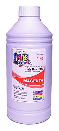 Ink Depot Litro de Tinta Premium Universal Marca, Dye Compatible con EPSON, HP, Canon, Brother...