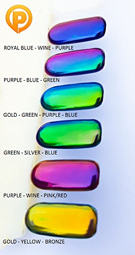 Poudre Pigment Effet Miroir Chrome Caméléon Poussière Ongles - Bleu Royal Vin Violet