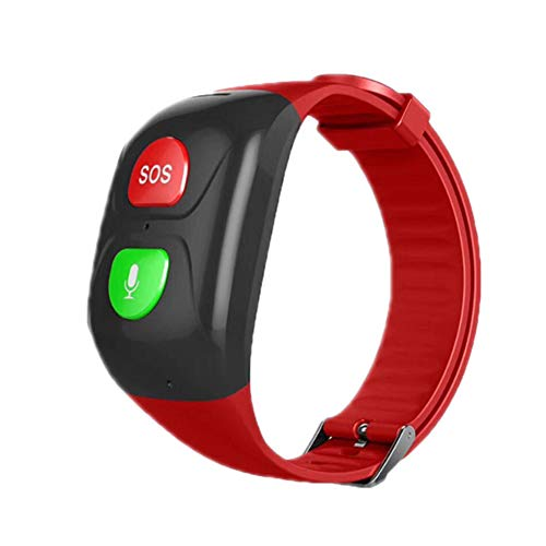 WQING Braccialetti Intelligenti Anziani Bracciale SOS GPS Smartband Frequenza cardiaca Banda Intelligente Cinturino Sportivo Impermeabile IP68 per iPhone Samsung Huawei