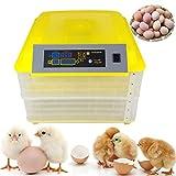PETAMANIM Incubadora Automática de 96 Huevos con Pantalla Digital y Control Eficiente e Inteligente de Temperatura