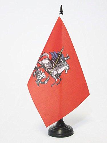 AZ FLAG Bandera de Mesa de MOSCÚ 21x14cm - BANDERINA de DESPACHO Moscow EN Rusia 14 x 21 cm
