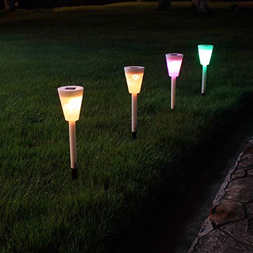 REWD Solar Garden Lights Outdoor Waterproof Upgraded Solar Lights Outdoor Solar Pathway Lights IP65 Waterproof Solar Garden Lights Auto ON/Off for Patio Decor Pathway (Color : Colorful, Size : 8pcs)