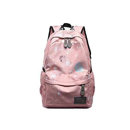 TTD Galaxy Planets Pattern Serie Kinder Mädchen Schule Tasche Rucksack Leichtgewicht für Wandern Reise Camping