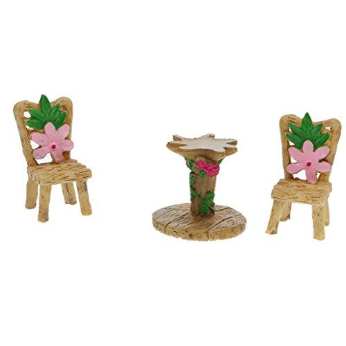 Fenteer Micro Paysage Miniature en Résin Ornement Jardin X-mas Décoration d'extérieur - 1x Set Table