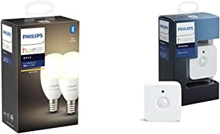 Philips Hue ホワイト 2個セット(電球色)Bluetooth + Zigbee E17 LED電球 スマートライト 調光 間接照明 スマートホーム IOT Alexa Amazon Echo Google Home対応 アレクサ対...