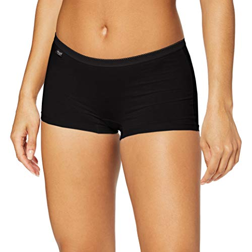 Sloggi Damen Panties Basic + Short, Schwarz (Black 0004), 38