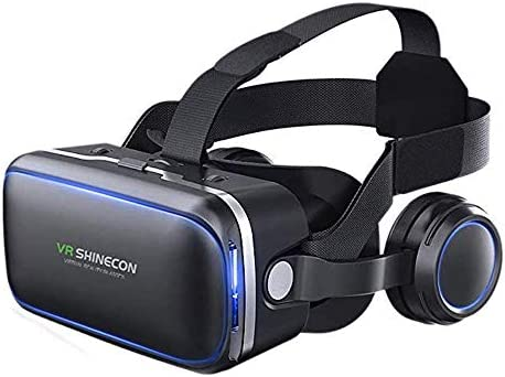 VR Headset for Cellphone Adjustable 3D VR Glasses with Headphone for Mobile Games and Movies product image