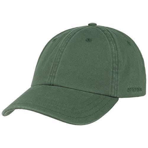 Stetson Cappellino Rector Donna/Uomo - Protezione UV Estivo Fibbia in Metallo, con Visiera Estate/Inverno - Taglia Unica Verde Scuro