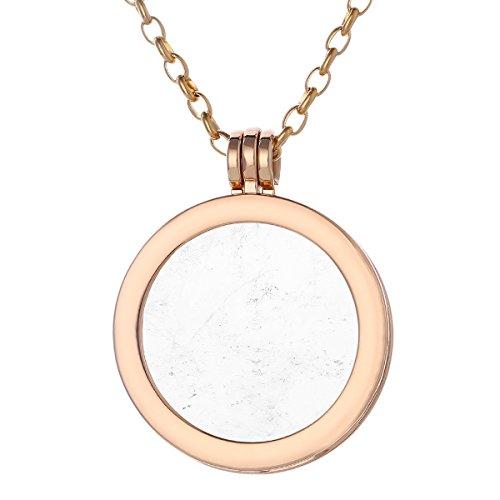 Morella Mujeres Collar 70 cm Acero Inoxidable Oro y Colgante con Coin...