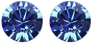 Robella Swarovski Elements Earring Encrusted With Navy BlueSwarovski Crystals ROB-063