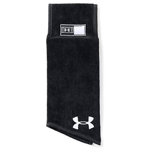 Under Armour Men's SkiILL Towel, Black (001)/White, One Size