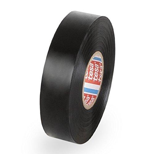 Propac Z-NPA1910N, Nastro Isolante in PVC, Tesa 53988, Nero, Larghezza 19 mm, Confezione da 10 rotoli