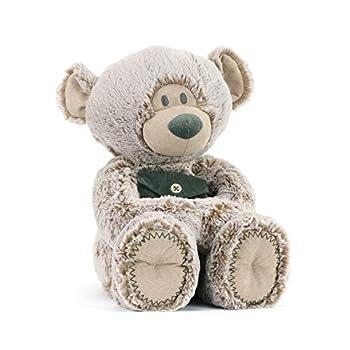 DEMDACO Pocket Prayer Teddy Bear Soft Grey 16 inch Plush Fabric Stuffed Animal Toy