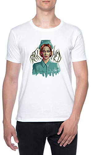 De Miedo enfermero Blanco Hombre Camiseta Mangas Cortas Tamao L Mens T-Shirt White Size L