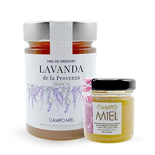 Miel de abeja pura cruda de Lavanda | Miel de La Provenza Francia Natural, Organica, Fresca y Cruda 390 Gr / Miel cruda 100{0ba1d8fe6108e8c2ad46f9ae6267328a3e01d4995d2b6b687d9541542e4f4540} natural sin azucares añadidos. Extracción en frio
