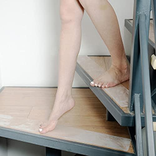 YANJJ Cinta Antideslizante para peldaños de escaleras, 10 * 60 cm (15 Juegos) Alfombrilla autoadhesiva para escaleras y Tiras Antideslizantes para Pisos