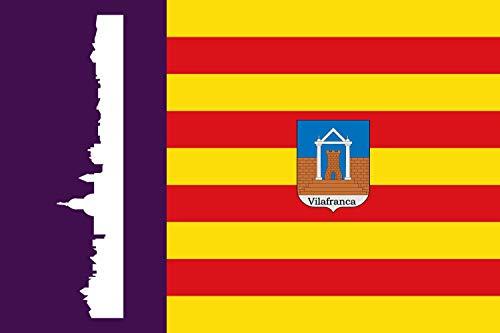 magFlags Bandera Large Villafranca de Bonany, Islas Baleares, España   Bandera Paisaje   1.35m²   90x150cm