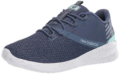 New Balance Women's District Run V1 CUSH + Sneaker, Vintage Indigo, 12 W US
